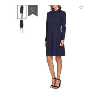 CeCe Fit/Flare Long Sleeve Sweater Dress X-Large